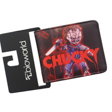 European & American Designer Leather Wallets Horror Movies SAW BRIDE OF CHUCKY Purses Money Bag Anime Wallet For 2017 Halloween
