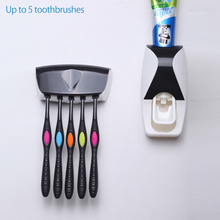 Creative Automatic Toothpaste Dispenser toothbrush rack Toothpaste Squeezer Kit Holder Organizer Set Device Suction cup Washing