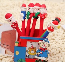 new Christmas gift polymer clay ballpoint pen students prize Creative stationery Christmas pen  cartoon pen for child gift