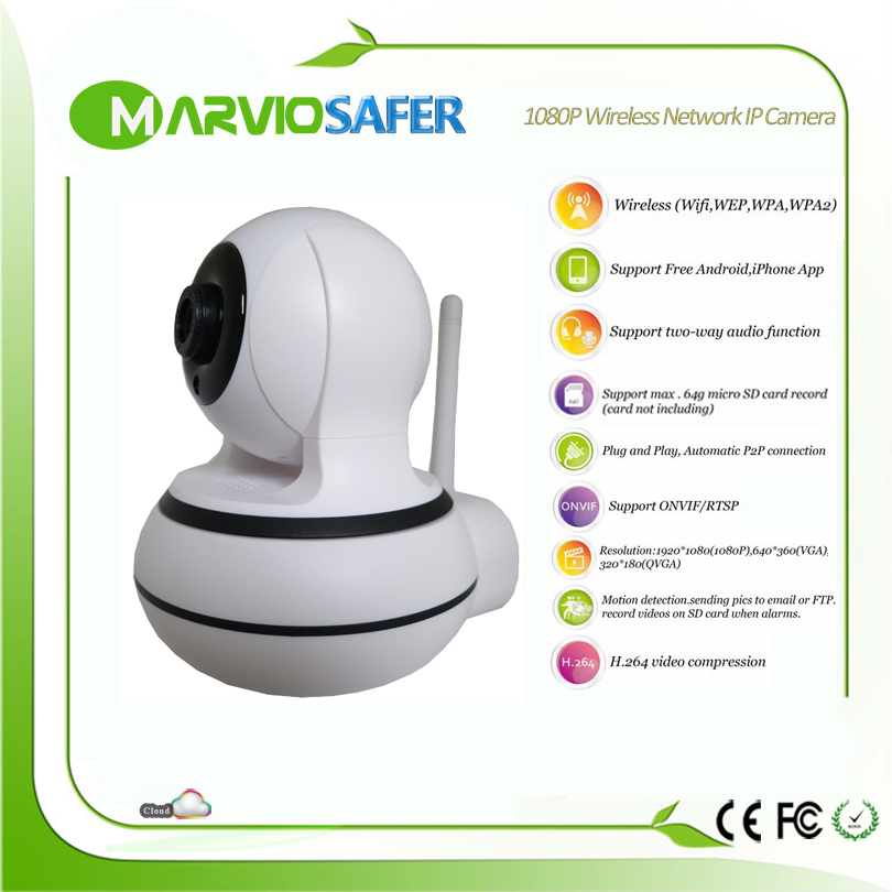 2MP Full HD 1080P PTZ Wifi IP Camera IR-Cut Night Vision Two Way Audio CCTV Surveillance Smart Camera SD Card View Maviosafer<br>