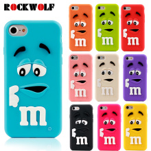Cartoon M&M's Chocolate Candy Rubber Case For iPhone 6 6S 7 Plus 4 4S 5C SE 5 5S Best Quality Soft Silicone Back Cover Fundas(China)