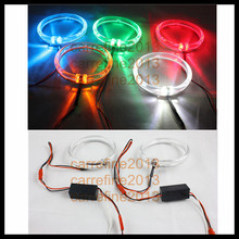 80mm new led headlight rings led angel eyes ring white blue green yellow red led halo ring conversion kits DRL angel eye rings