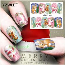 Water sticker for nails art all decorations sliders merry Christmas adhesive nail design decals manicure lacquer foil polish