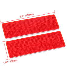 Universal 1pair Auto Car Truck Self Adhesive Safety Reflective Warning Plate Sign Sticker Rectangle White/Red Car Styling