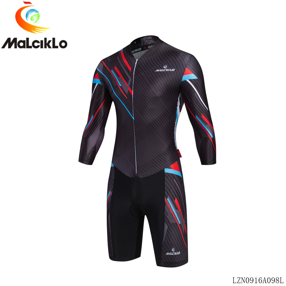 Malciklo Men Cycling Long Sleeve Jumpsuit 2017 High Fabric Ropa Ciclismo Maillot Jersey Skinsuit Bike Clothing Triathlon S033<br>