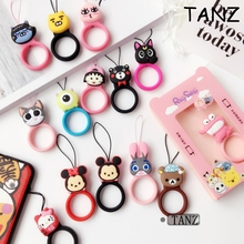 Cute cartoon Universal Mini Silicone Soft Mobile Phone Straps Ring Pendant Cellphone Accessories for iPhone USB camera Car keys(China)