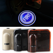 2pcs Wireless No Drill Magnetic Car LED Door Welcome Projector Logo Ghost Shadow Laser Lights For FIAT All Brand