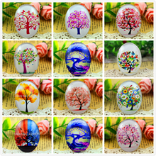 2pcs/Lot 30x40mm New Fashion Dream Tree Handmade Photo Glass Cabochons Pattern Domed Jewelry Accessories Supplies(China)