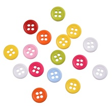 Free Shipping 500pcs Mixed Colors Resin Buttons Fit Sewing or Scrapbooking 9mm DIY accessories(China)