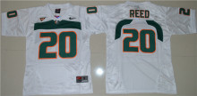Nike Youth 2016 Miami Hurricanes Ed Reed 20 College Ice Hockey Jerseys - White S M L XL(China)