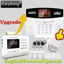 Hot Selling Free Shipping  wholesale Wireless  PSTN GSM Alarm System 433MHz Home Burglar Security Alarm System 2-2