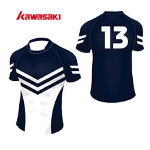 2017 Brand Kawasaki Original Custom Rugby Top Jersey Mens Women 100% Polyester Quick Dry SportsPractice Short Jerseys(China)