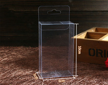 50pcs 3*6*10cm clear plastic pvc hook box packing boxes for gift/Phone/candy/cosmetic/craft square transparent pvc Box
