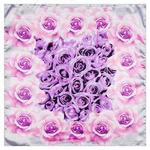 Digital Printing 60cm*60cm silk rose floral scarf ladies silk scarves 60cm small shawl Hijab