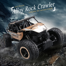 Double Motors 4WD Alloy RC Rock Crawler Suitable For Various Rugged Road Climbing Car Carro Remote Control Model Vehicle Boy Toy