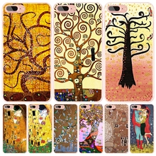 gustav klimt tree of life cell phone Cover case for iphone 6 4 4s 5 5s SE 5c 6 6s 7 plus case for iphone 7