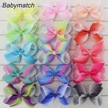Babymatch Handmade Rainbow Bows Gift Ribbon Bow For Girls Large Hair Bows Without Clips Kids Christmas Hair Accessories