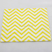 Hot Eco-friendly 400 pcs/lot Chevron folding tissue paper napkins serviettes for Wedding Baby Shower Decoration free shipping(China)