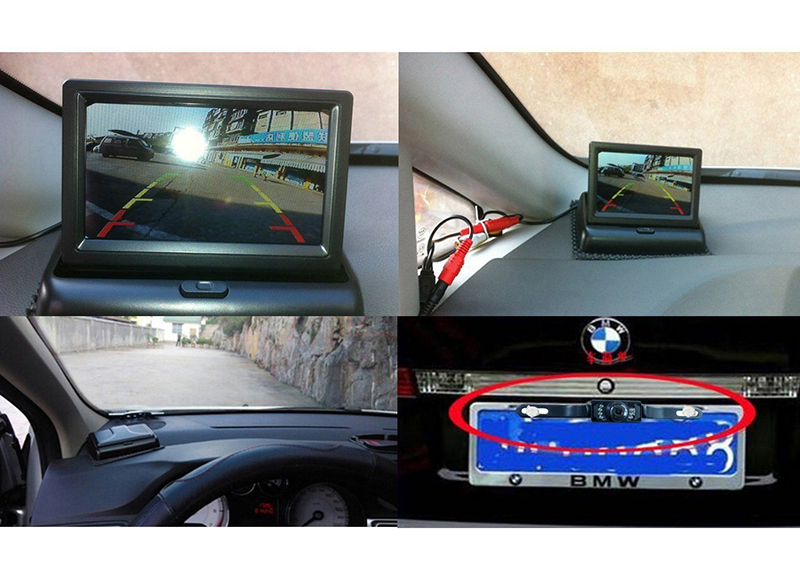 4.3 Inch Foldable Rearview Car Monitor Screen for Rear View Camera (3)