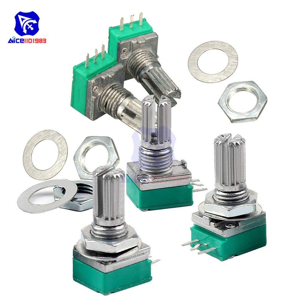 RK097N 50K Ohm Variable Resistors Single Carbon Film Taper Potentiometer 5pcs