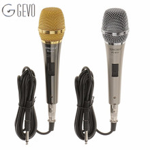PC-M10 Vocal Condenser Handheld Microphone Metal Body Mesh Guard Dynamic Black Wired Microphones For Karaoke KTV Mic(China)
