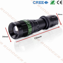 1200 Lumen Zoomable CREE XML Q5 LED Flashlight Torch Zoom Lamp Light Black tactical torchlight mini size flash lights