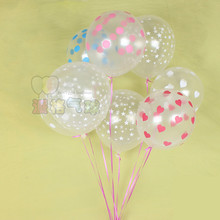 Buy 10pcs/lot 12inch Clear Latex Balloons Birthday Party Decorations print heart star Wedding Party Suppliers for $1.70 in AliExpress store