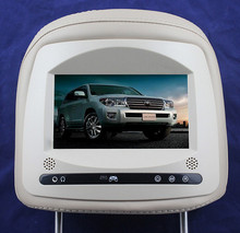 "Gray Headrest 7"" Car Monitor with Digital Screen 2 Videos Input for Toyota Land Cruiser"