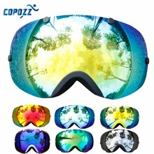 COPOZZ Ski Goggles Frameless Double Lens 100% UV400 Protection Adult Snowboard Snow Goggles for Men and Women Ski Glass GOG-203(China)
