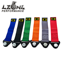 LZONE- OMP Towing Rope High Strength Nylon OMP JDM trailer Tow Ropes Racing Car Universal Tow Eye Strap Tow Strap Bumper Trailer