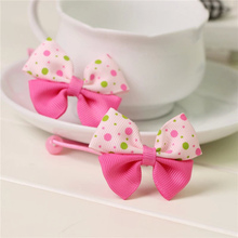 boutique pink dot kids kids girls hair ties elastic tiara bows satin flower headbands hairband floral accessories bands ST-1