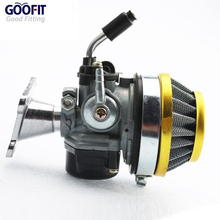 Goofit Racing 19mm Carburetor Air Filter Assembly Carb 49cc 50cc 60cc 66cc 80cc 2 Stroke Gas Motorized Bike Engine N090-047-1(China)