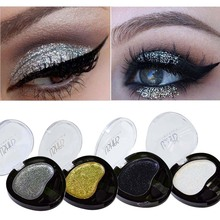 2017 New USHAS Brand Shimmer Eye Shadow Makeup Kit Waterproof Long Lasting Glitter Metallic Eyeshadow Single Palette