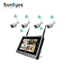 SunEyes SP-JKS1804W 4CH Wireless NVR IP Camera Kit 1080P Full HD Real Plug and Play with 12.5inch LCD Screen(China)