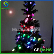 Programmable C9 strawberry led string light IC chip magic color IP65 RGB string light for Christmas tree(China)