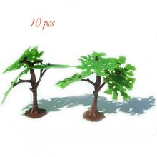 10pcs Coconut Palm Trees Model Diorama Prop Army Men Toy Soldiers Accessories CHBR21  railway modeling model building kit