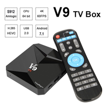 Android 7.1 Smart TV Box 3GB 32GB Amlogic S912 Octa Core 2.4G/5.8G Wifi Bluetooth 4.0 4K Streaming Media Player V9 TVbox + i8