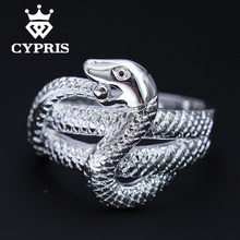WHOLESALE Hot Promotion Fashion silver Ring Snake chic Party Wholesale Price Free Shipping Factory Direct Sale  Fine jewelry