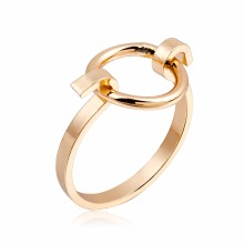 KAMEIER NEW Fashion circle rings for women made by copper European Geometric rings women have 3 colors as party ring bulk