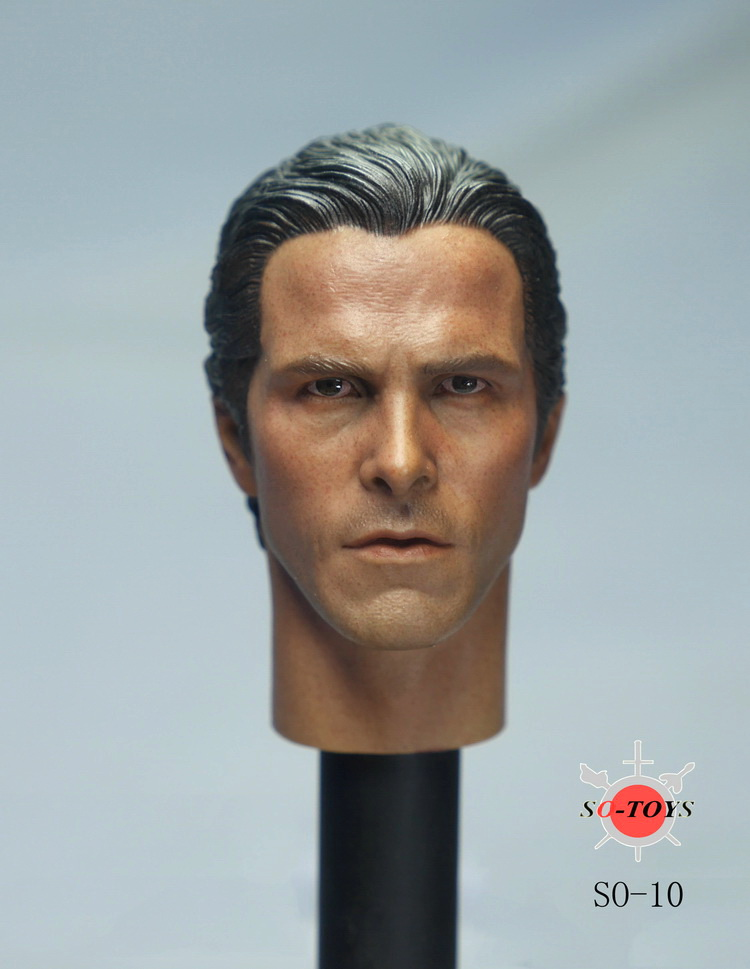1/6 scale figure doll head shape for 12 Action figure doll accessories Christian Bale Batman Bruce Wayne head carved 16B2632<br><br>Aliexpress