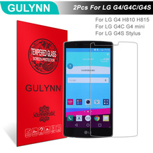 Buy 2Pcs/Lot GULYNN Amazing 2.5D 9H Tempered Glass LG G4 G4C G4S G4 Mini G4 Stylus LCD Screen Protector Glass Film Tough Package for $3.63 in AliExpress store