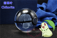 Transparent  Crystal Glass Ball Pokemon Cartoon Animals Design Inside Action Figures Toy Kid's Christmas Gifts