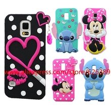 For Samsung Galaxy S5 mini Case Cover Minnie Sulley Tiger Stitch Lips Hello Kitty Silicone Phone Cases For Samsung S5 mini G800