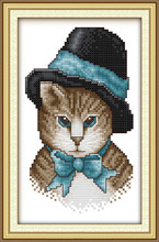 A Noble Cat Wholesale Canvas DMC Cross Stitch Kits Accurate Printed Embroidery DIY Handmade Needle Work Wall Set Art Home Decor(China)