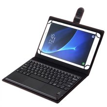 Universal 9 9.6 9.7 10.0 10.1 inch Tablet IOS Android Windows Bluetooth Touchpad Keyboard With Leather Case Stand Cover + Stylus(China)