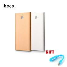 hoco Ultra thin metal 12000mah Power Bank External Battery 2 USB Ultra Thin Universal Portable Mobile Charger for Phone