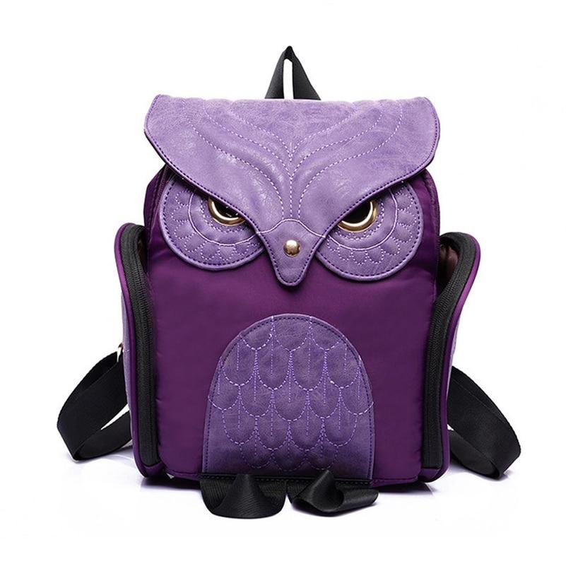 Newest X Feeling Fashion Cute Owl Backpack Women Cartoon School Bags For Teenagers Girls Nylon Women Backpack <br><br>Aliexpress