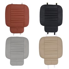 PU Leather Bamboo Strips Charcoal Cushion Car Seat Cover Four Seasons General Monolithic Summer Slip Mat Car Seat Cushion Pad