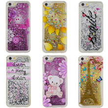 Nephy Quicksand Glitter Star Skin Phone Case For iPhone 7 4 5 6 S SE 5S 6S Plus 6plus 7Plus Cover TPU Silicon Cartoon Flower