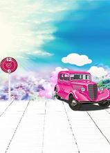 Backgrounds Beautiful Pink Limousine Photography Backdrops Photo Lk 1380